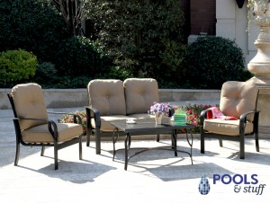 Sereno Bay 4-Piece Cushioned Patio Set in Linen Sesame