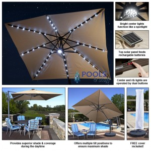 Santorini Cantilever Umbrella - Pool & Spa Umbrellas