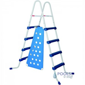 "52"" A-Frame Swim Pool Ladder with Barrier"