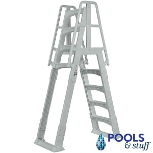 A-Frame Above Ground Swimming Pool Ladder with Top Step