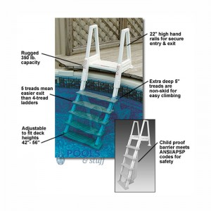 Deluxe Heavy Duty Above Ground In-Pool Ladder