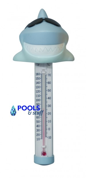 Surfin' Shark & Derby Duck Floating Pool & Spa Thermometers