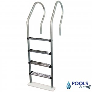 Stainless Steel STANDARD In-Pool Ladder for Above-Ground Pools