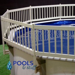 "Above Ground Premium Resin 24"" Tall Pool Fence Kit"