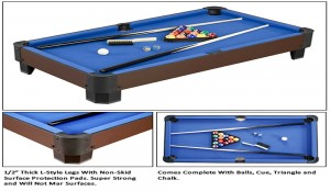 "Sharp Shooter 40"" Table Top Pool Table"