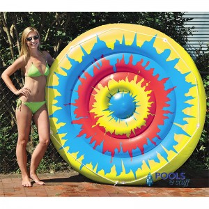 Tie Dye Pool Island Lounger