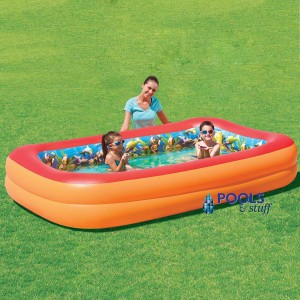 Splash & Play 3D Interactive Adventure Rectangular Inflatable Pool