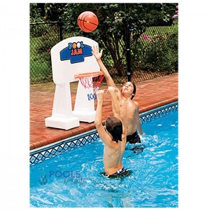 Pool Jam™ Volleyball & Basketball Combo for In-Ground Pools