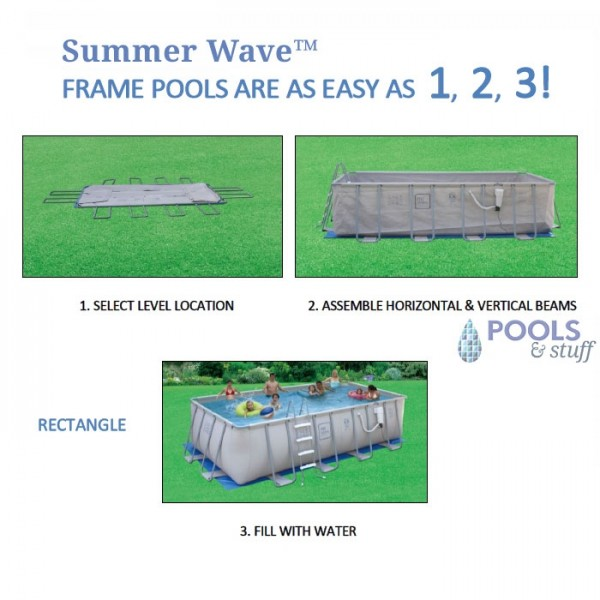 Rectangle - Soft-Sided Above-Ground Pool Kits - Fast Setup