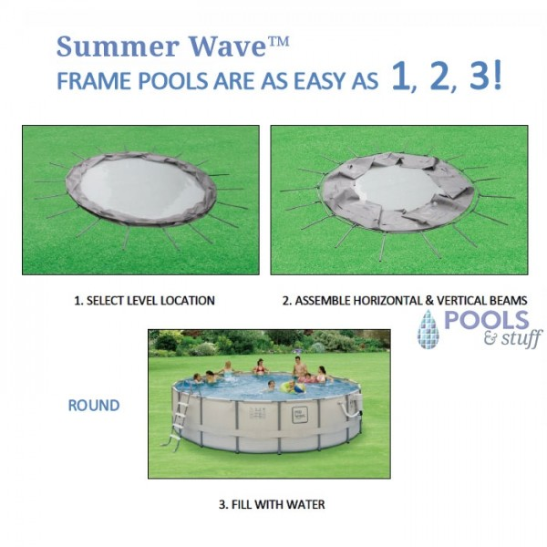 Round - Soft-Sided Above-Ground Pool Kits - Fast Setup