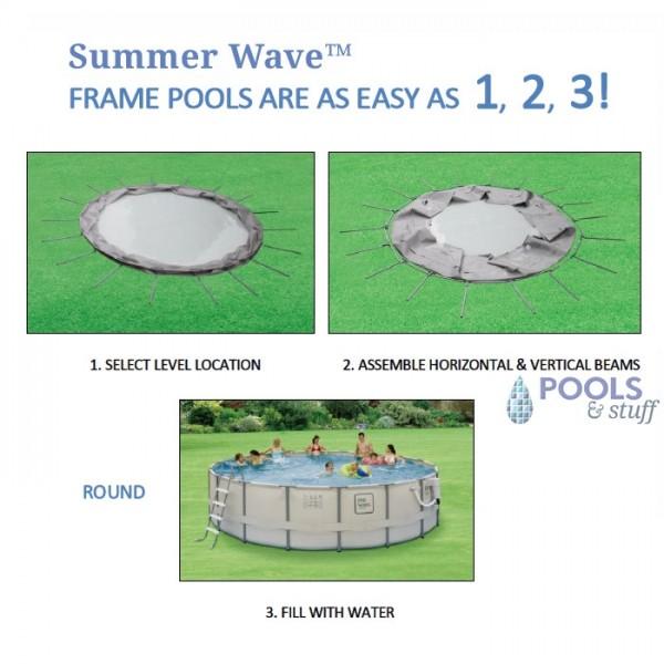 Round - Soft-Sided Above-Ground Pool Kits - Fast Setup