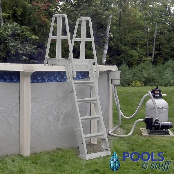 Premium Gray A-Frame Above Ground Pool Ladder