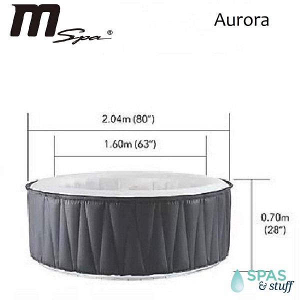 AURORA Portable Inflatable Hot Tub
