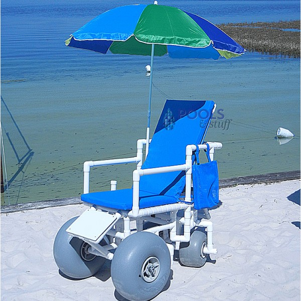 Beach Access Chair - Standard Chair, Rear Articulate Wheels