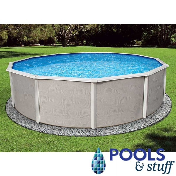 "24' Round Belize Above Ground Pool - 52"" Deep Round"