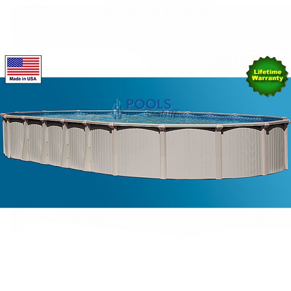 "Bermuda 18' x 33', 54"" Deep Oval Best Aluminum Above-Ground Pool Kits"