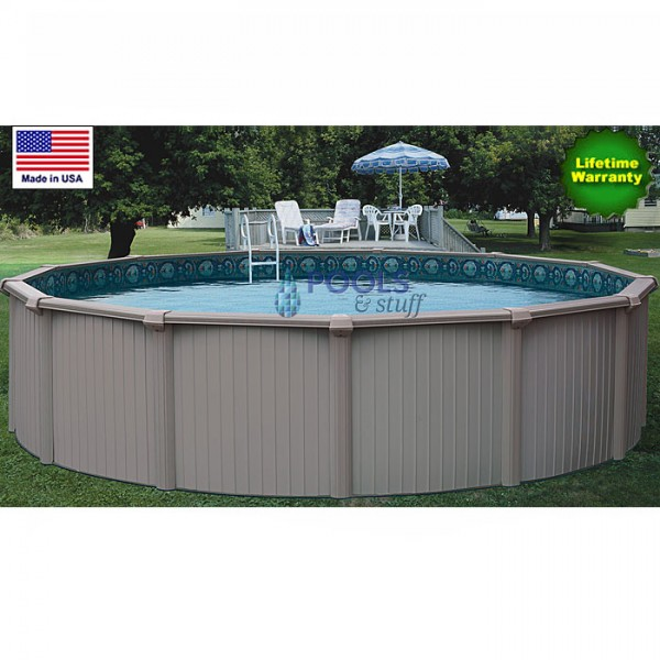 "Bermuda 24' Round, 54"" Deep Best Aluminum Above-Ground Pool Kits"