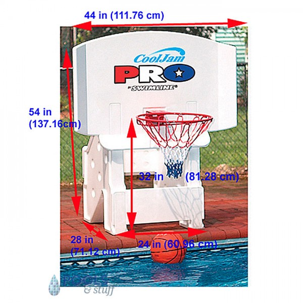 Cool jam Pro Basketball Pool Game - Dimensions