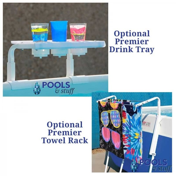 Optional Drink Tray and Towel Holder