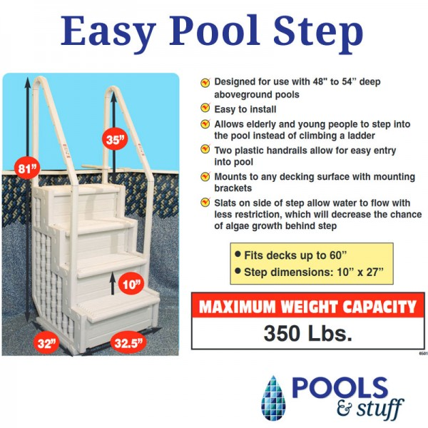 Easy Pool Step - Specifications