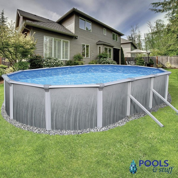 "Martinique - 12' x 24' Oval, 52"" Deep Above-Ground Pool"