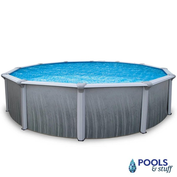 "Martinique - 27' Round, 52"" Deep Above-Ground Pool"
