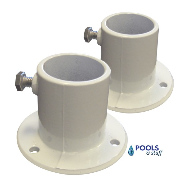 "Pair Of Aluminum Deck Flange 1.5"" Diam. For Above Ground Pools"