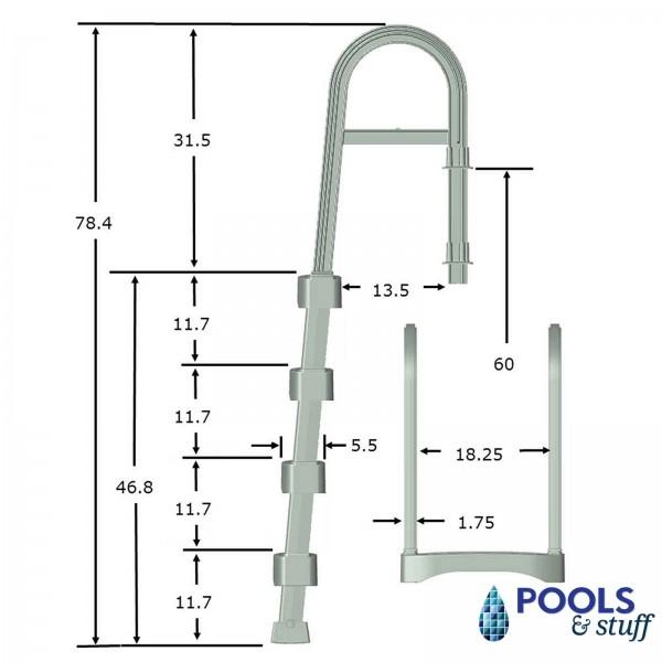 Snap-Lock Deck Ladder - Taupe