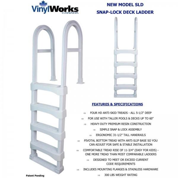 Snap-Lock Deck Ladder - White