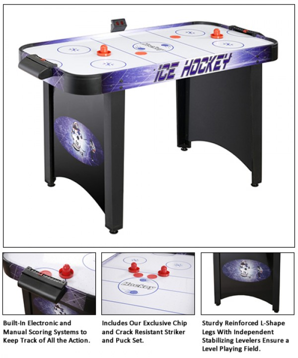Hat Trick 4' Air Hockey Table
