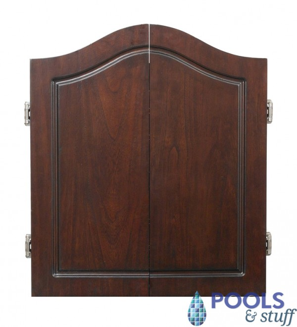 Centerpoint Solid Wood Dart Cabinet Set Cherry Finish