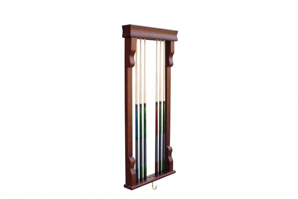 Antique Walnut Wall Cue Rack