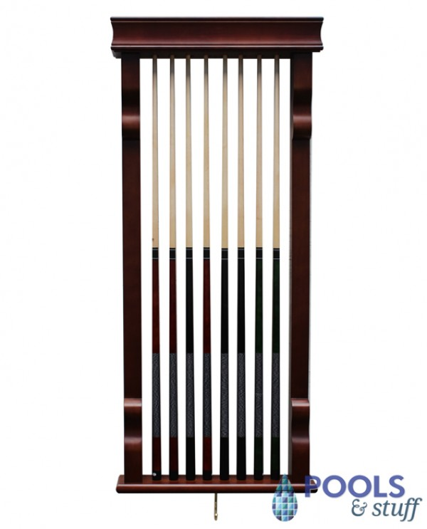 Mahogany Wall Cue Rack