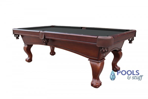 Westport 8' Antique Walnut Slate Pool Table With Black Felt