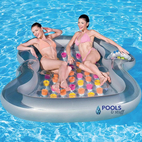 Double Designer Inflatable Pool Lounge Float