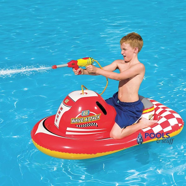 Wave Attack 55 In. Inflatable Ride-On Pool Toy