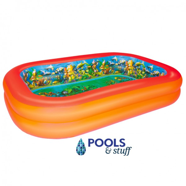 Splash & Play 3D Interactive Adventure Rectangular Inflatable Pool