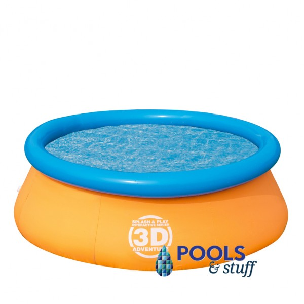 Splash & Play 3D Adventure 7 Ft. Fast Set Family Pool