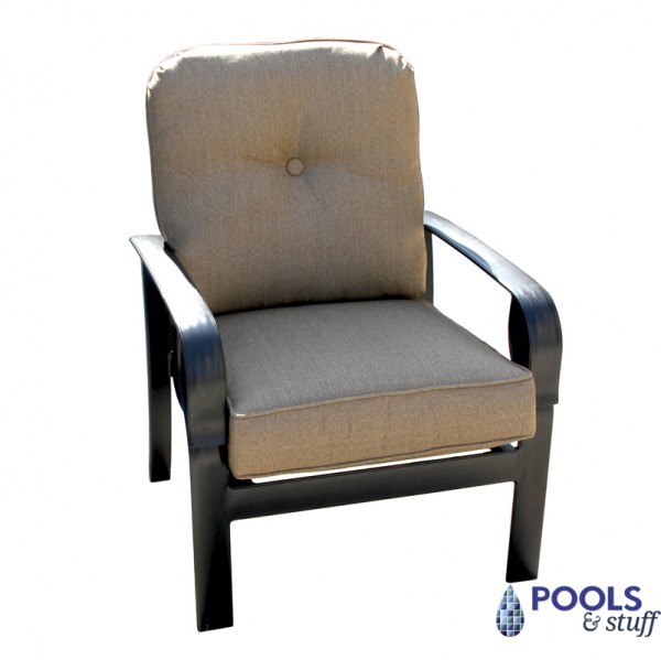 Sereno Bay 4-Piece Cushioned Patio Chair in Linen Sesame