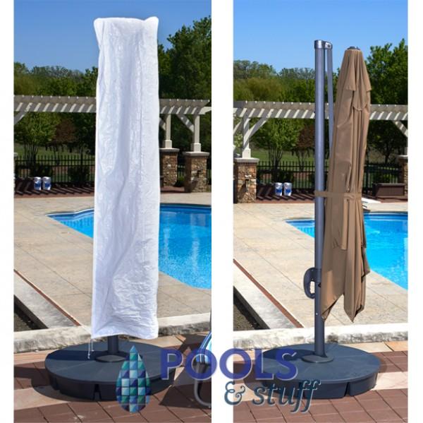 Santorini II Cantilever Umbrella Free Cover
