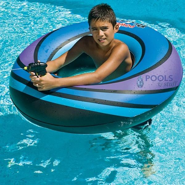 Power Blaster Pool Tube with squirt gun - Blue