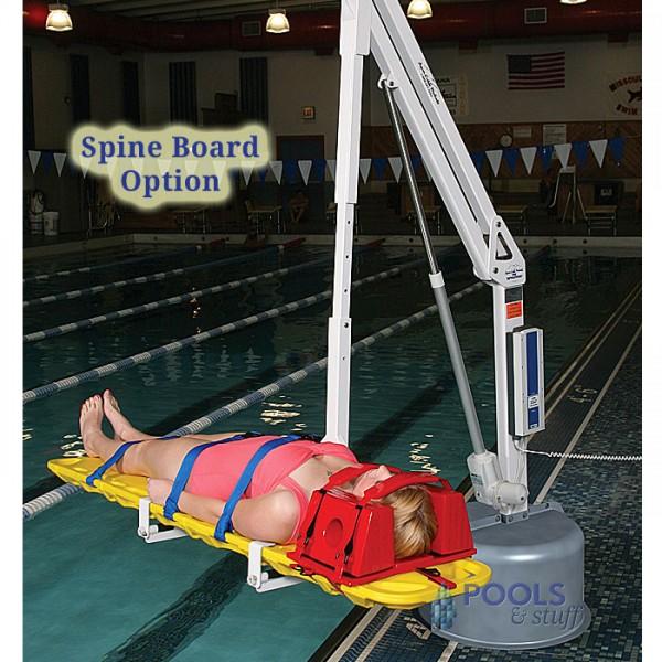 Spine Board Option, Revolution ADA Compliant Pool & Spa Lift