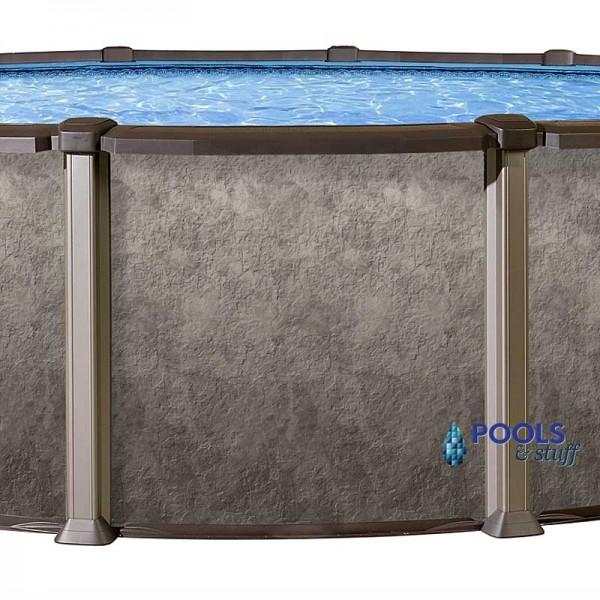 """RIVIERA™ - 33"""" Round, 54"""" Deep Salt Water Above-Ground Pool"""