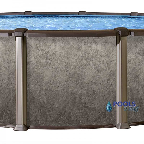 "RIVIERA™ - 18' Round, 54"" Deep Salt Water Above-Ground Pool"