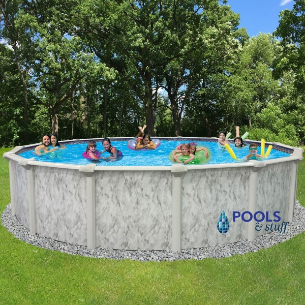 """St. Kitts™ - 18"""" Round, 54"""" Deep Above-Ground Pool"""