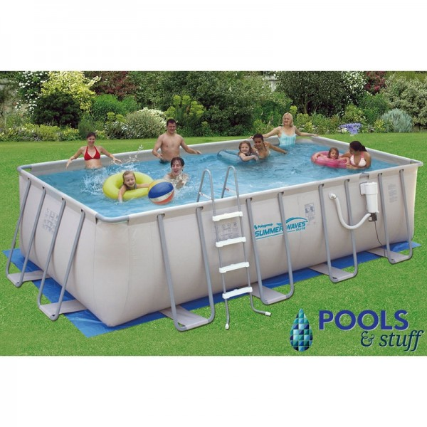 Summer Waves 12x24 Rectangle 52 Deep Soft Sided Pool Pools Stuff
